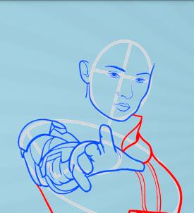как нарисовать Джин Грей 7