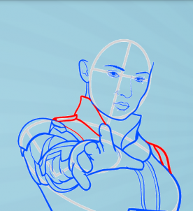 как нарисовать Джин Грей 8