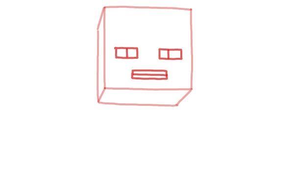Как нарисовать Стива из Майнкрафта 2