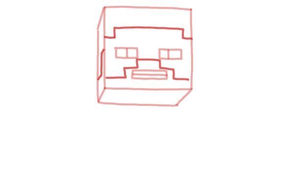 Как нарисовать Стива из Майнкрафта 3