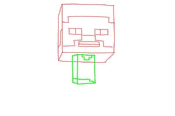 Как нарисовать Стива из Майнкрафта 4
