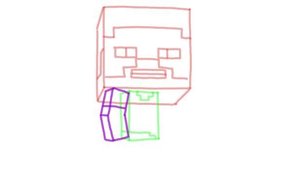 Как нарисовать Стива из Майнкрафта 5