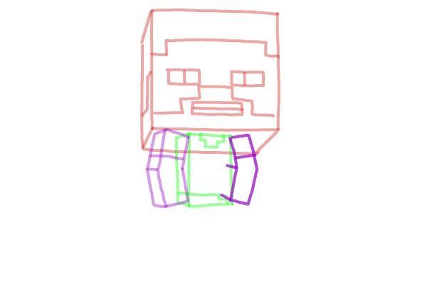 Как нарисовать Стива из Майнкрафта 6