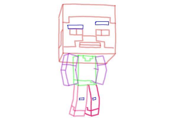 Как нарисовать Стива из Майнкрафта 8
