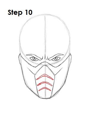 Как нарисовать Саб Зиро из игры 10
