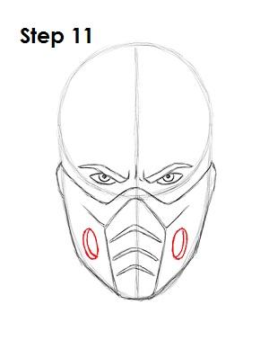 Как нарисовать Саб Зиро из игры 11