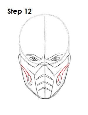 Как нарисовать Саб Зиро из игры 12