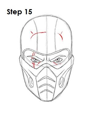 Как нарисовать Саб Зиро из игры 15