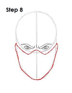 Как нарисовать Саб Зиро из игры 8