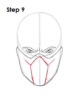 Как нарисовать Саб Зиро из игры 9
