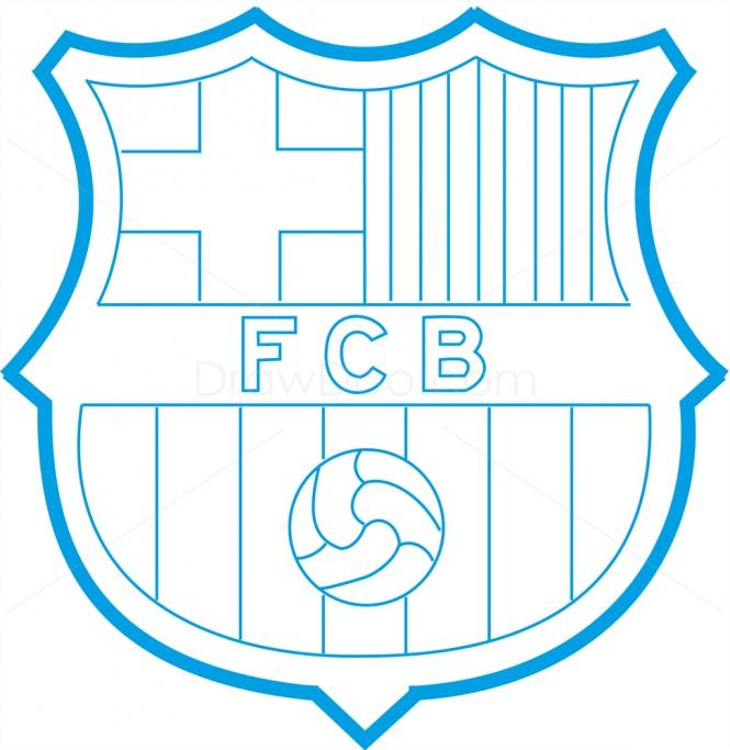 Как нарисовать логотип Барселоны 10