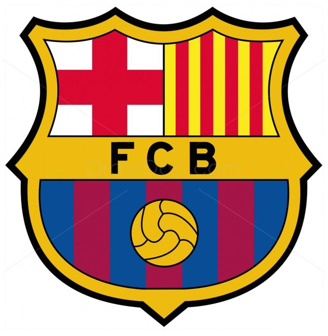 Как нарисовать логотип Барселоны 11