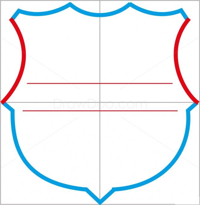 Как нарисовать логотип Барселоны 4