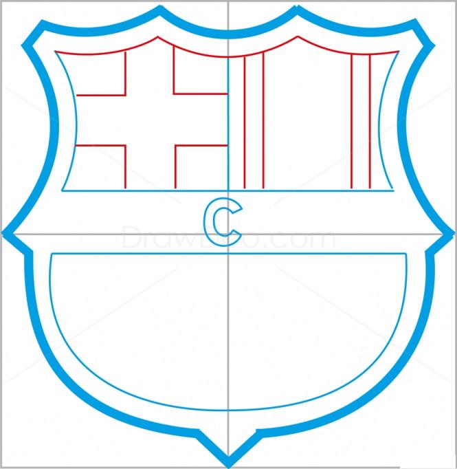 Как нарисовать логотип Барселоны 6