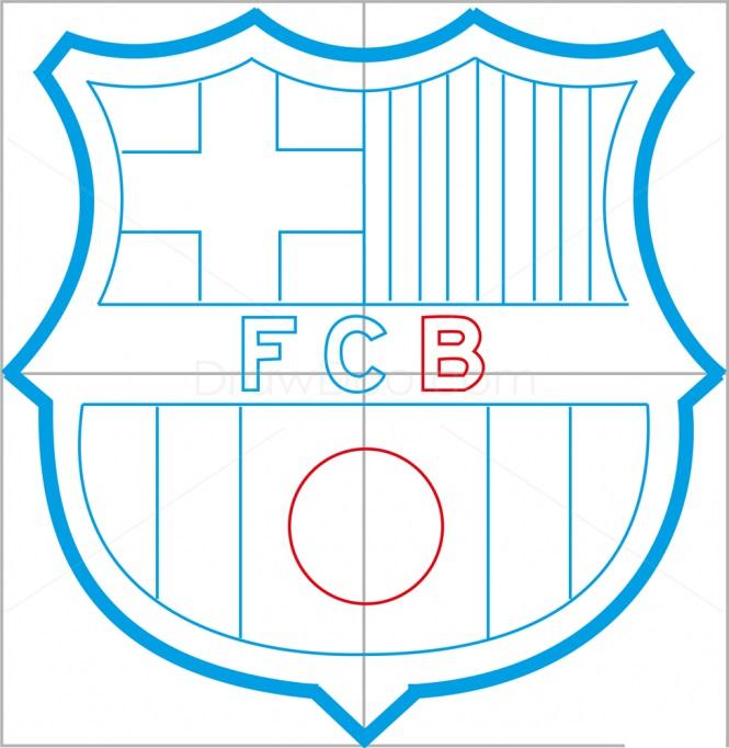 Как нарисовать логотип Барселоны 8
