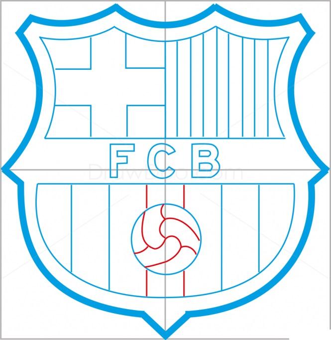 Как нарисовать логотип Барселоны 9