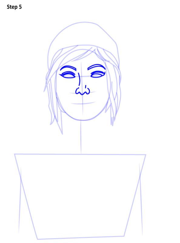 Как нарисовать Хлою из Life is Strange 5