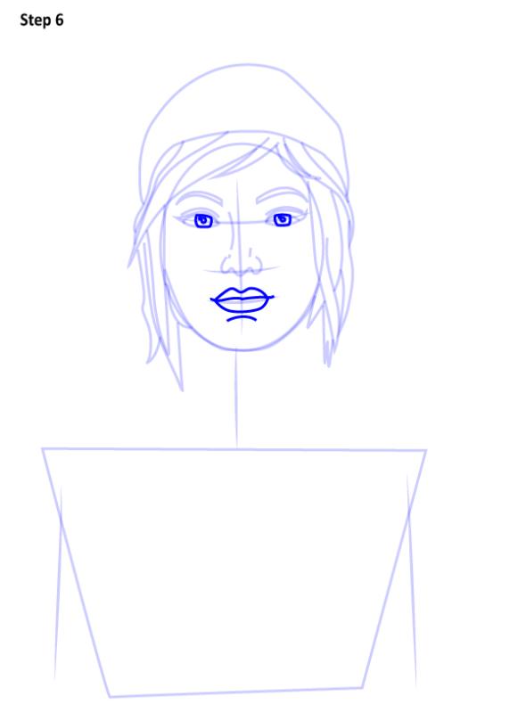 Как нарисовать Хлою из Life is Strange 6