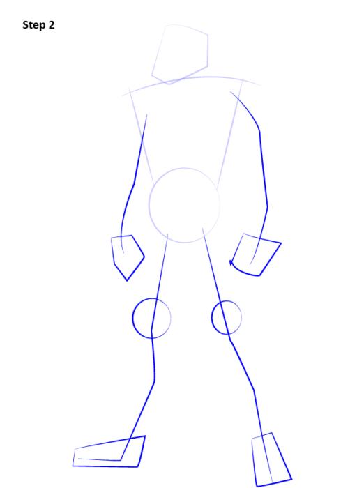 Как нарисовать Сайракса из Мортал Комбат 2