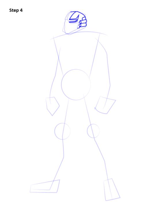 Как нарисовать Сайракса из Мортал Комбат 4