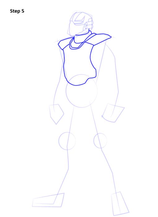 Как нарисовать Сайракса из Мортал Комбат 5