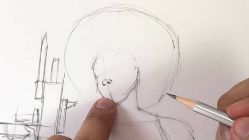 Как нарисовать Домино из Дедпула 10