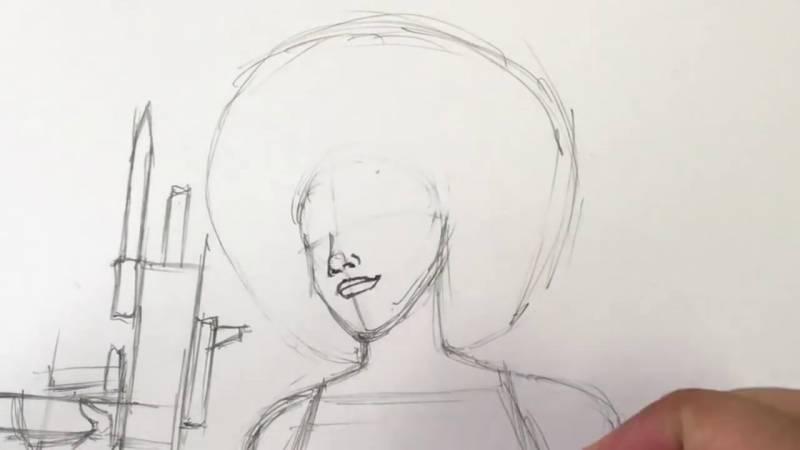 Как нарисовать Домино из Дедпула 12
