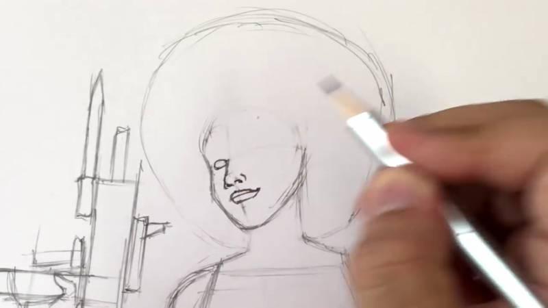 Как нарисовать Домино из Дедпула 13