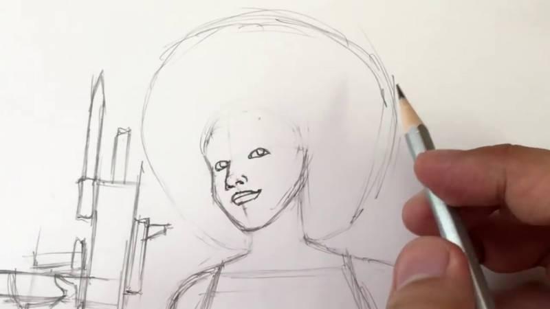 Как нарисовать Домино из Дедпула 14