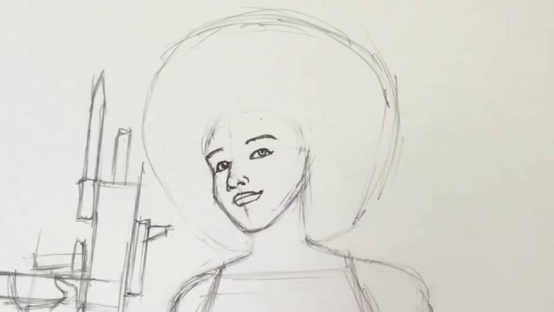 Как нарисовать Домино из Дедпула 15