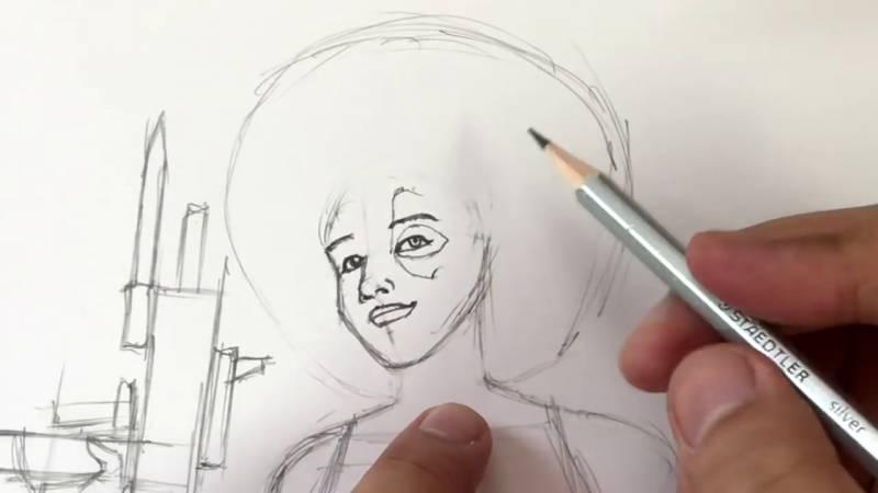 Как нарисовать Домино из Дедпула 16