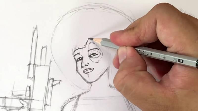 Как нарисовать Домино из Дедпула 17