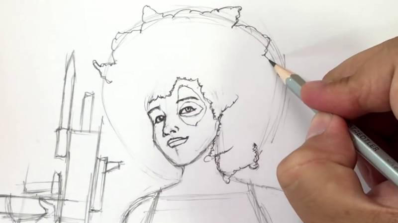 Как нарисовать Домино из Дедпула 18