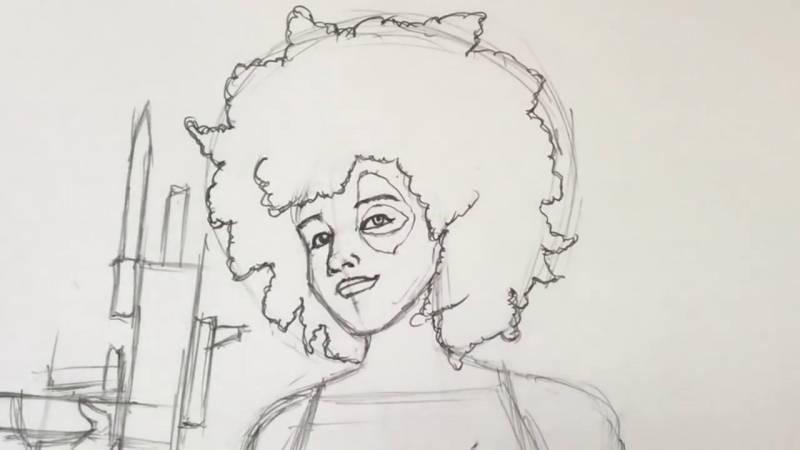 Как нарисовать Домино из Дедпула 19