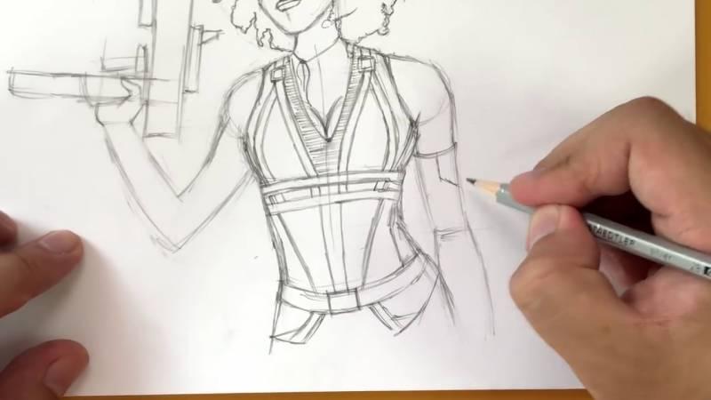 Как нарисовать Домино из Дедпула 26