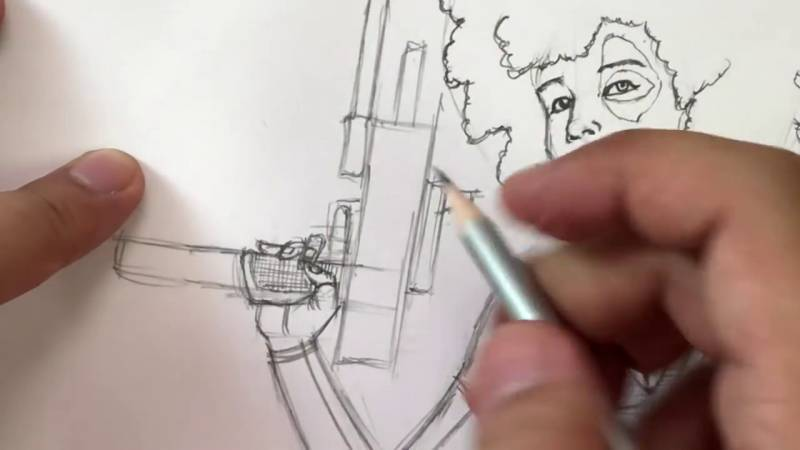 Как нарисовать Домино из Дедпула 29