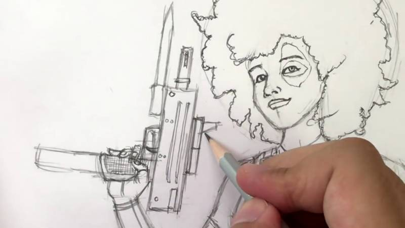 Как нарисовать Домино из Дедпула 30