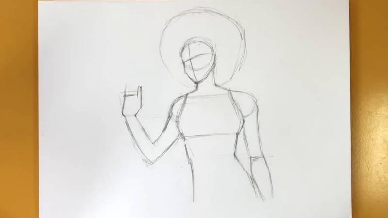 Как нарисовать Домино из Дедпула 6