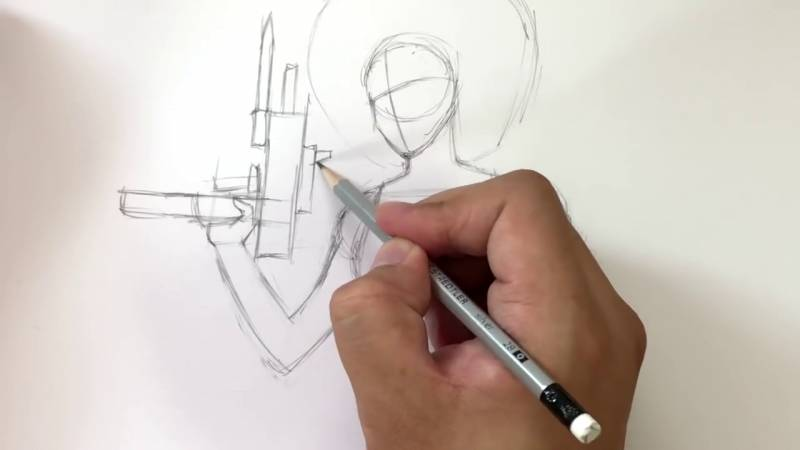 Как нарисовать Домино из Дедпула 8