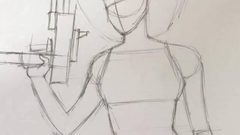 Как нарисовать Домино из Дедпула 9