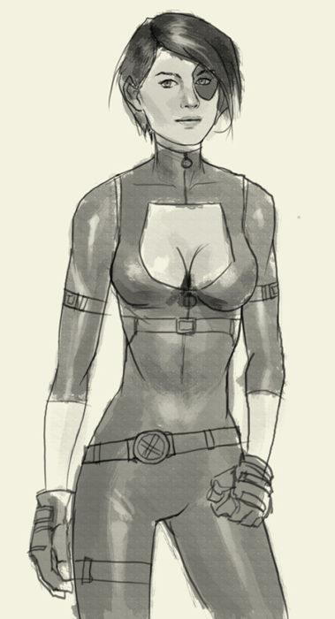 уроки рисования Домино из комикса 1