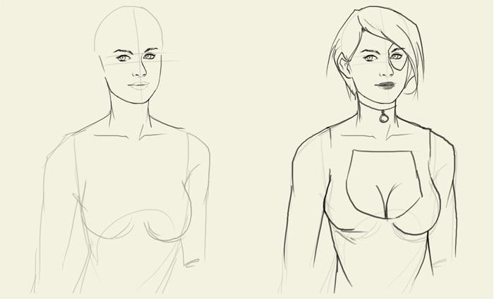 уроки рисования Домино из комикса 5