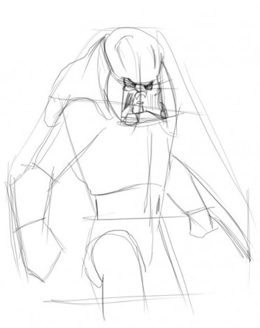 Как просто нарисовать Хищника 2