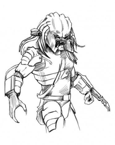 Как просто нарисовать Хищника 4