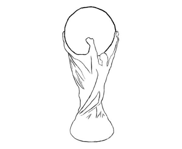 Как нарисовать Кубок мира 3