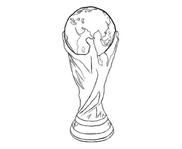 Как нарисовать Кубок мира 4