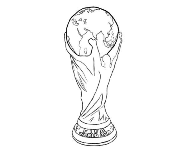 Как нарисовать Кубок мира 5