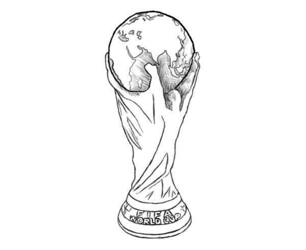 Как нарисовать Кубок мира 6