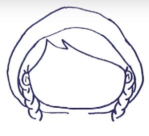Как нарисовать Красную шапочку 1