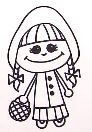 Рисовать Красную шапочку 7